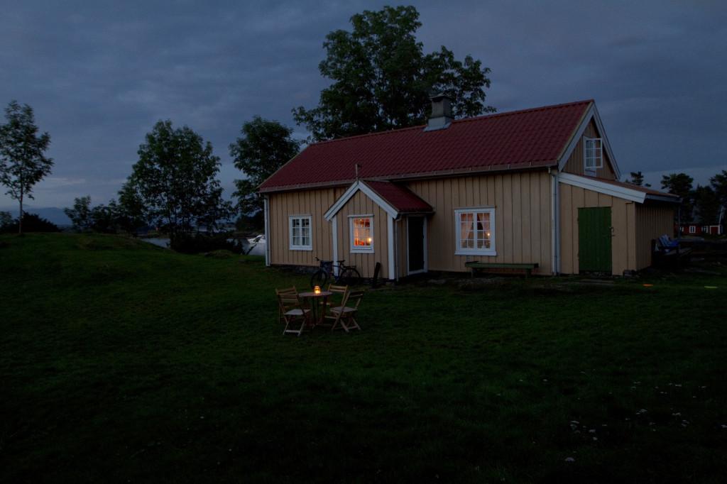 Hjertøya på kvelden