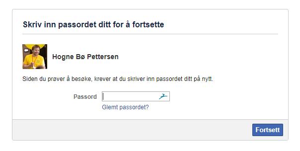 Facebook-passord