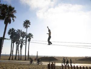Slak line på Santa Monica Beach