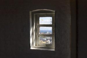 Utsikt fra vindu på Andenes fyr