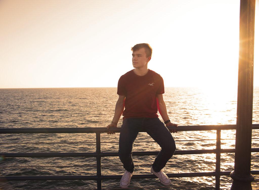 Håkon Atle Jakobsen på Santa Monica Pier