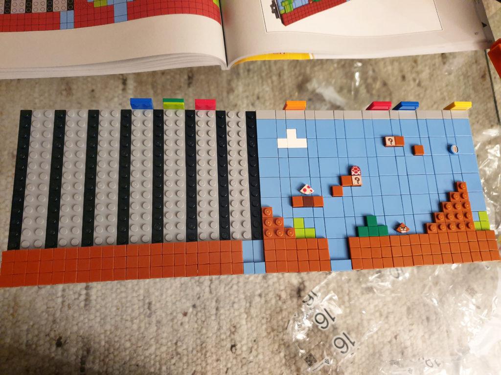 Halve første brett på Lego NES