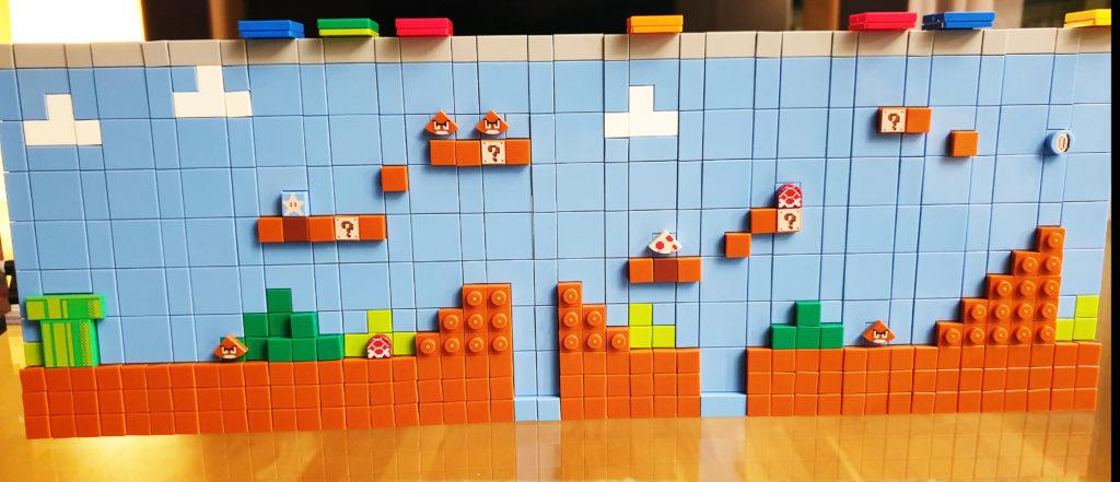 Første brett på Lego NES