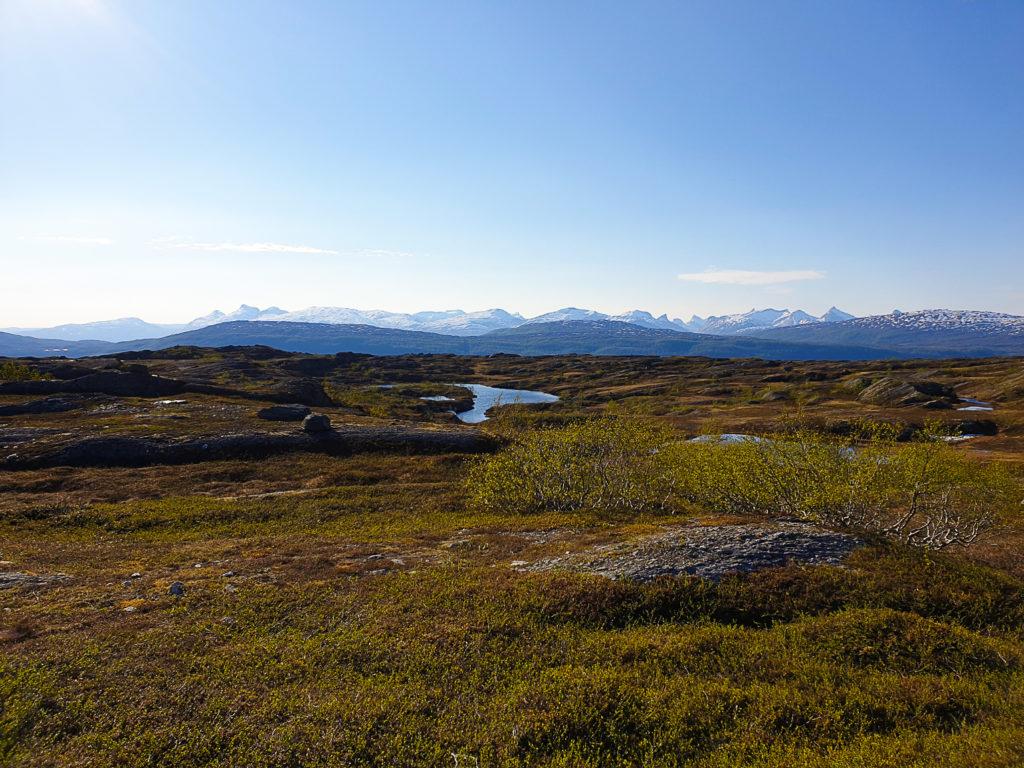 Utsikt vestover mot Bodø fra Finneidvarden