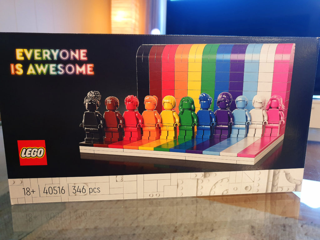 Everyone is awesome Lego box