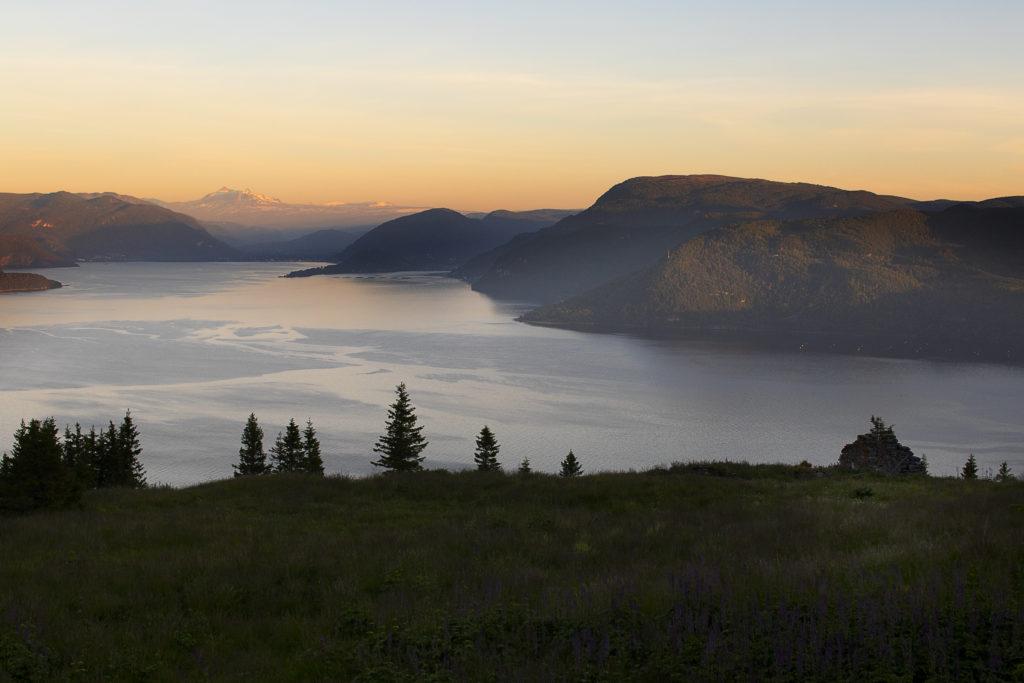 Gammel samisk gård ved Kvænflåget