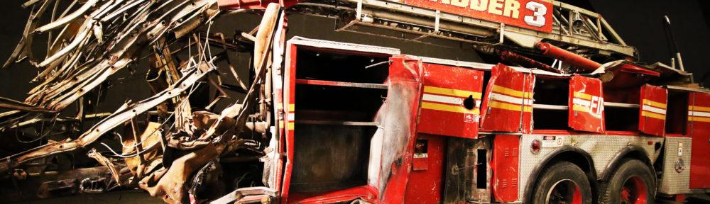 Vraket av brannbil etter angrepet på World Trade Center